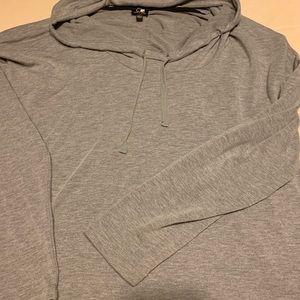 Grey long sleeve mock turtleneck sweatshirt. ❤️